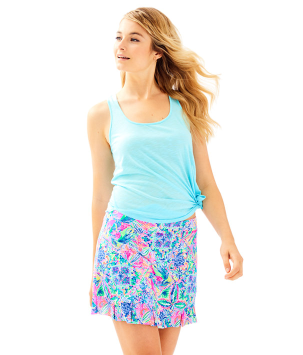 Luxletic Azelie Meryl Nylon Skort, Multi Dancing On The Deck Small, large