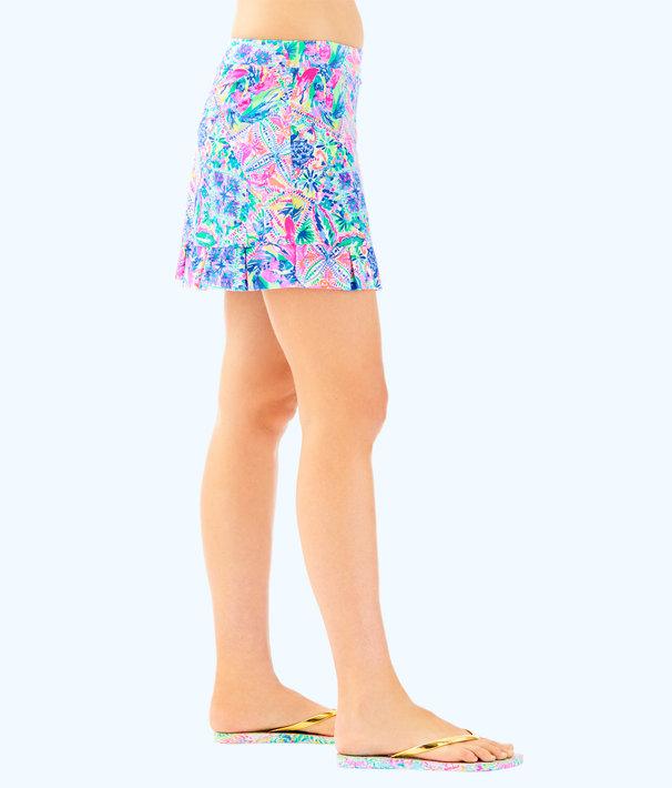 Luxletic Azelie Meryl Nylon Skort, Multi Dancing On The Deck Small, large