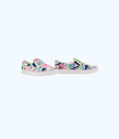 Julie Sneaker, High Tide Navy Tropicolada Shoe, large