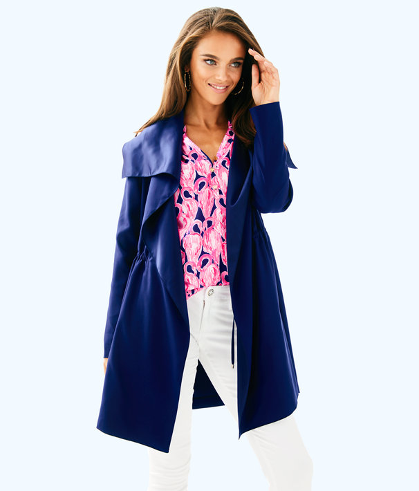 Valeria Dress Coat, True Navy, large