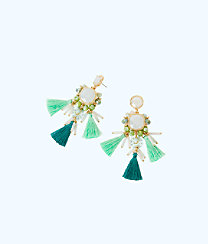 Waterside Earrings, Amante Aqua, large