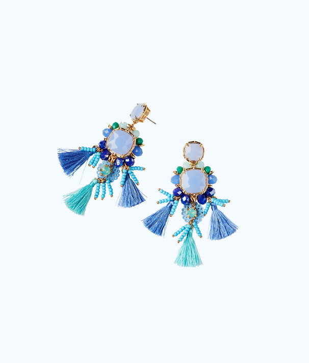 Waterside Earrings, Seasalt Blue, large