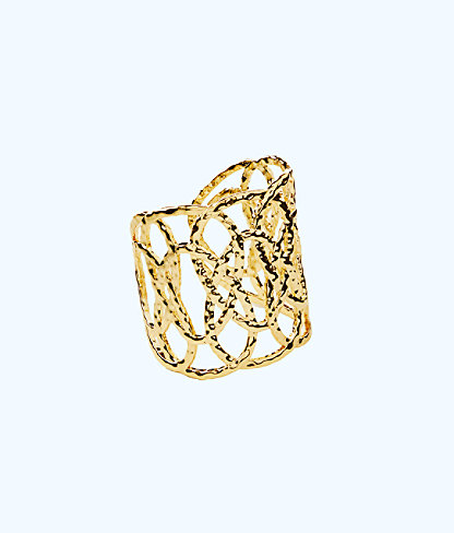 Swirling Sea Cuff, Gold Metallic, large