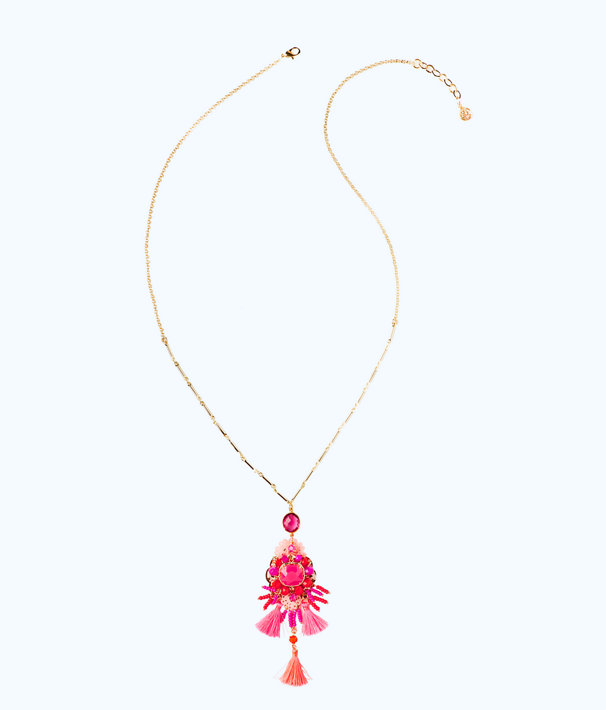 Island Exotic Necklace, Raz Berry, large