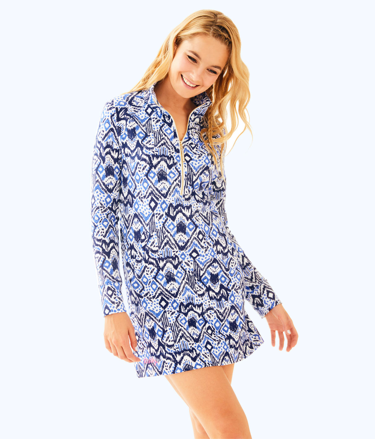 Lilly Pulitzer UPF 50+ Printed Popover Skipper Dress