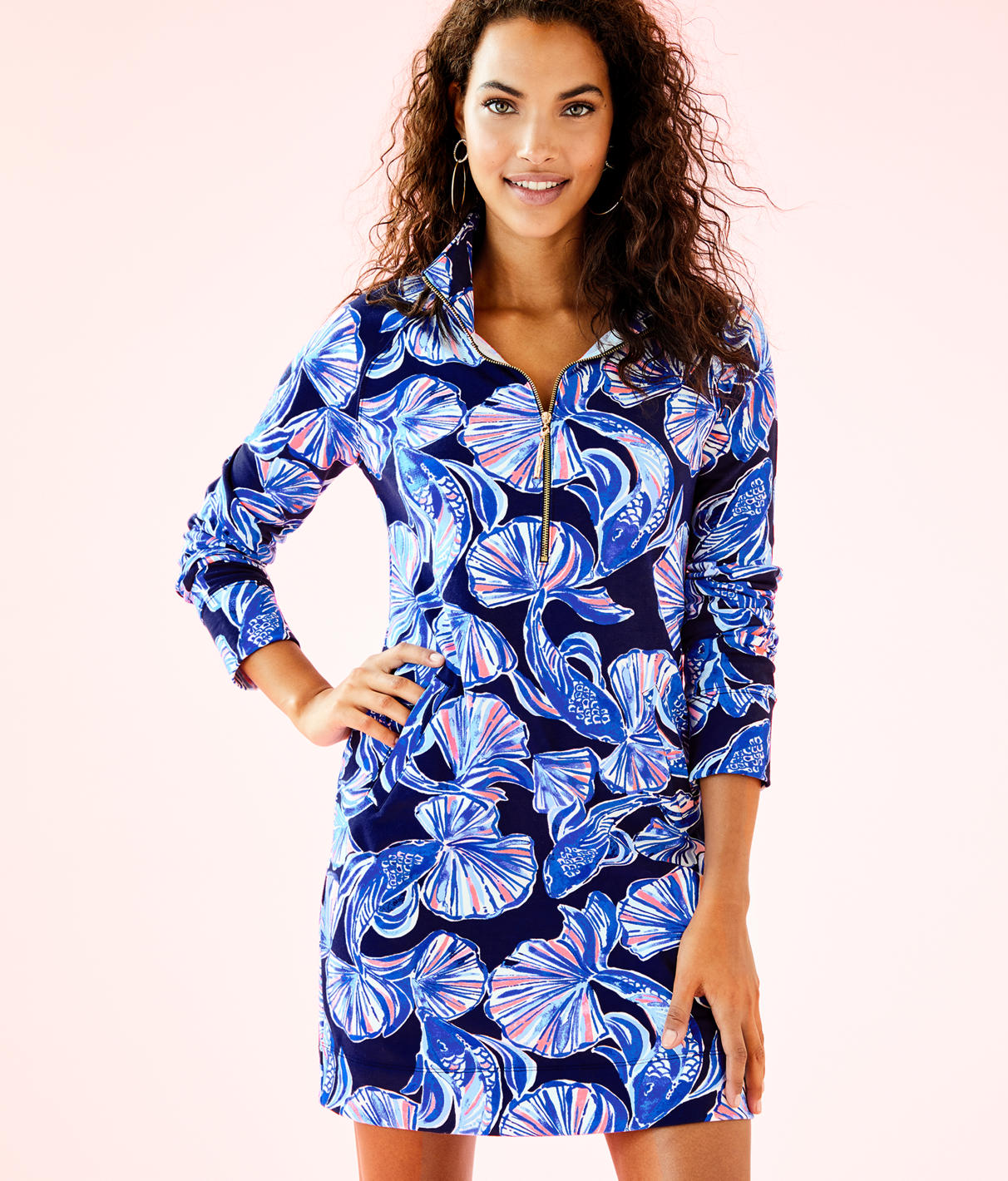 Lilly Pulitzer UPF 50+ Printed Popover Skipper Dress