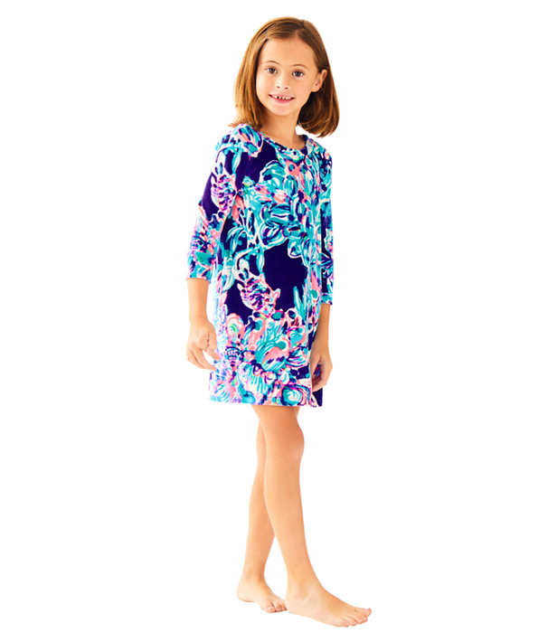 481bf97c80d2 Girls Mini Olive Dress, Bright Navy Caught Up, large