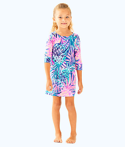 UPF 50+ Girls Mini Sophie Dress, Multi Gypset Paradise, large