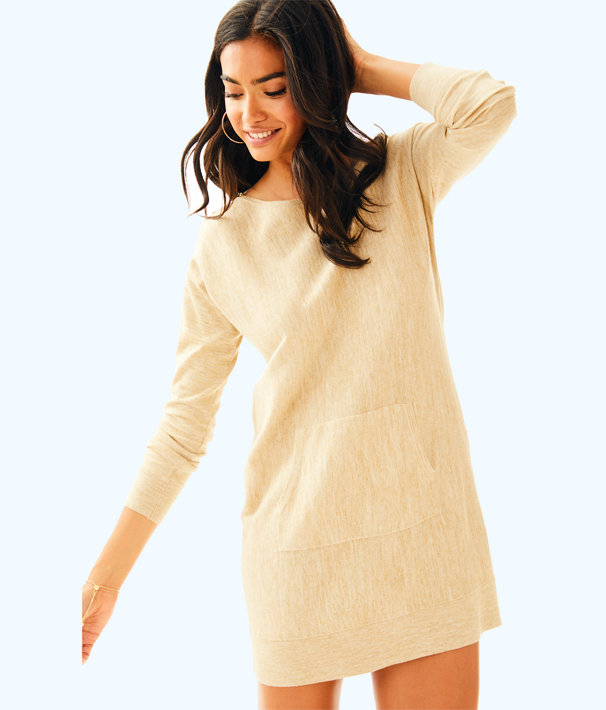 Jupiter Sweater Dress, Pb Camel Heather, large