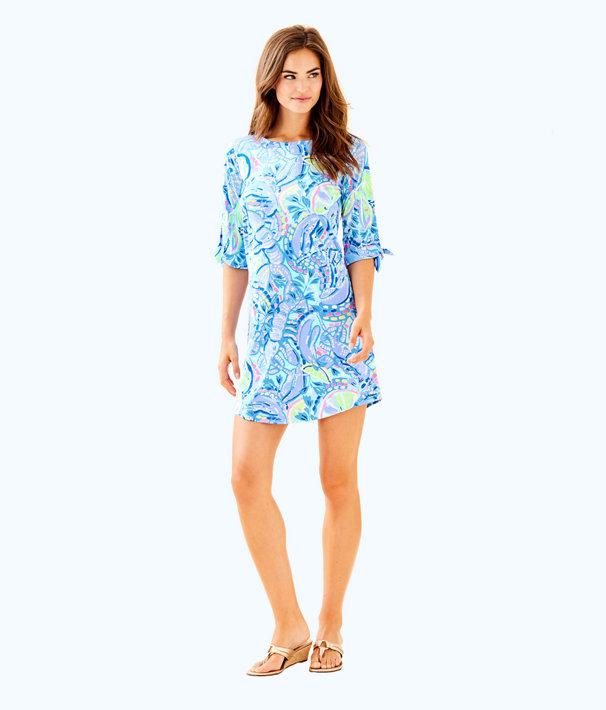 Preston Dress, Blue Peri Pinch Pinch, large