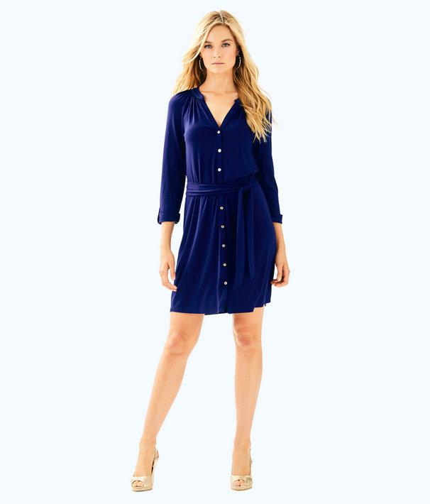 Bailor Dress, True Navy, large