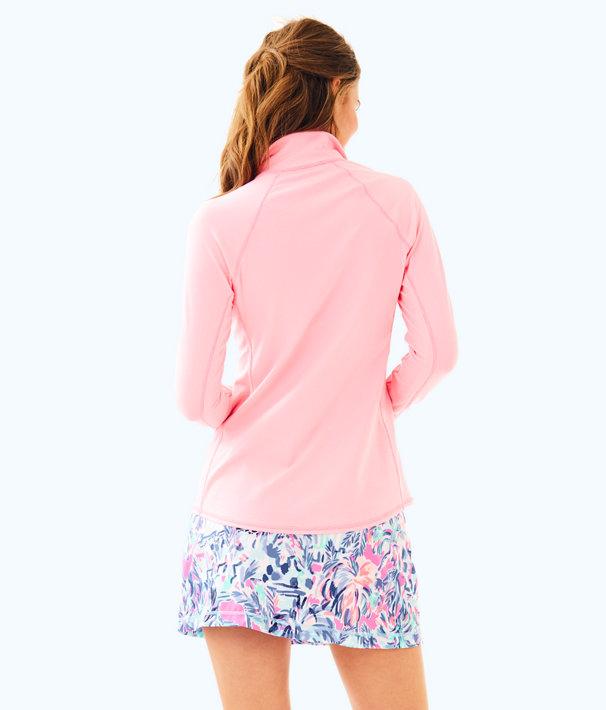 Luxletic Kapri Jacket, Pascha Pink Feeder Stripe, large