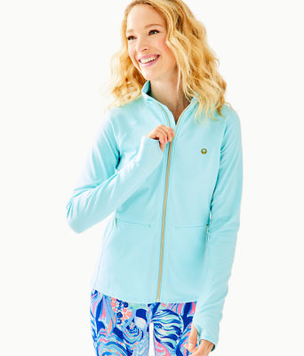 Luxletic Kapri Jacket, Seasalt Blue Feeder Stripe, large