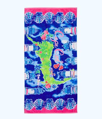 Destination Beach Towel, Multi Destination Cape Cod Towel, large 0