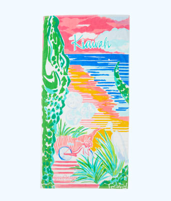 Destination Beach Towel, Multi Destination Kiawah Towel, large