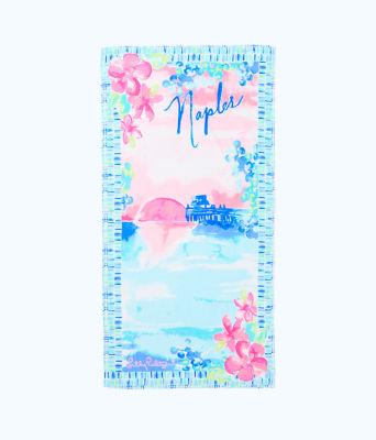 Destination Beach Towel, Multi Destination Naples Towel, large