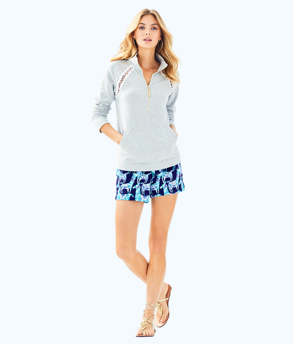 Solid Skipper Popover, Heathered Seaside Grey, large