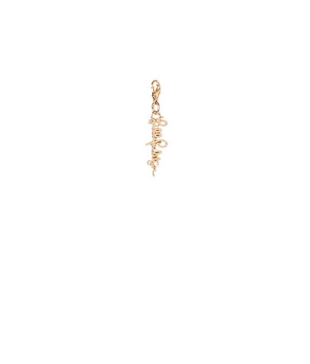 Removable Lilly Pulitzer Script Zipper Pull, Gold Metallic, large