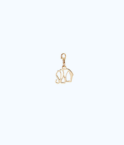 Removable Elephant Zipper Pull, Gold Metallic, large