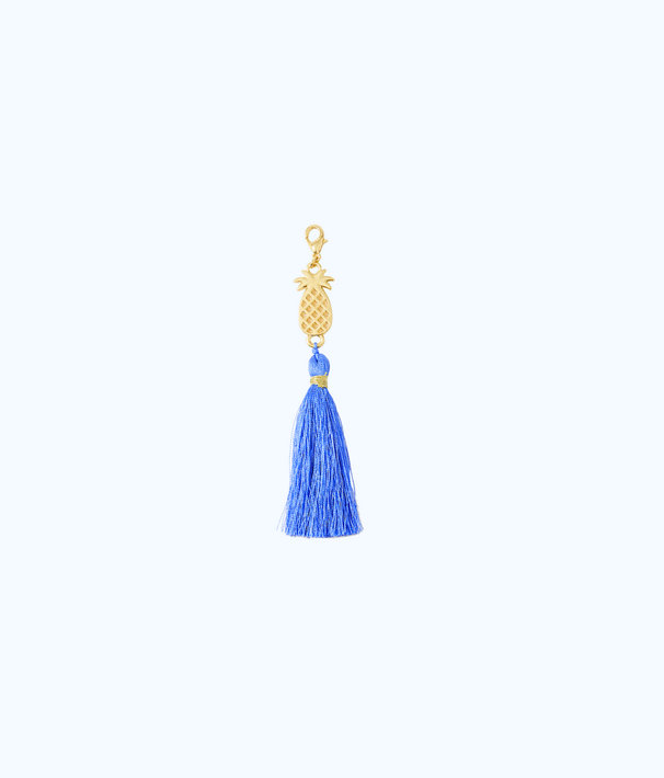 Removable Pineapple Zipper Pull With Tassel, Bennet Blue, large