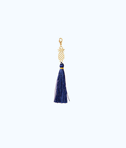 Removable Pineapple Zipper Pull With Tassel, True Navy, large
