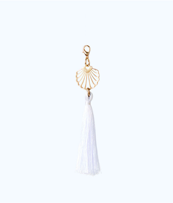 Removable Shell Zipper Pull With Tassel, Resort White, large