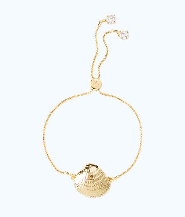 Charming Shell Bracelet, Gold Metallic, large