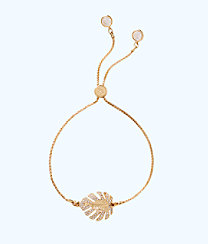 Charming Leaf Bracelet, Gold Metallic, large
