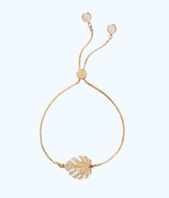 Charming Leaf Bracelet, Gold Metallic, large 0