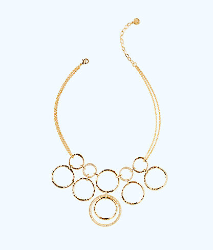 Swirling Sea Necklace, Gold Metallic, large