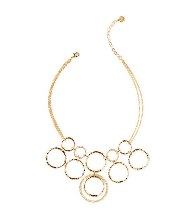 Swirling Sea Necklace, Gold Metallic, large