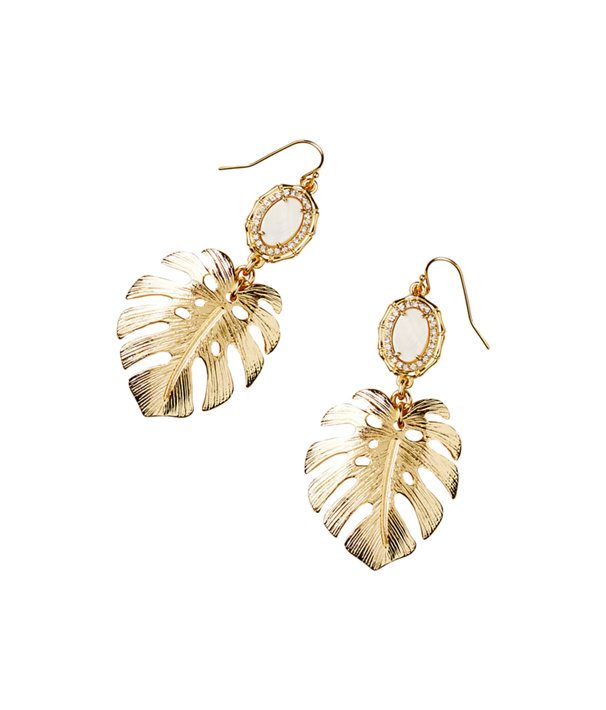 Palm Earring, Gold Metallic, large