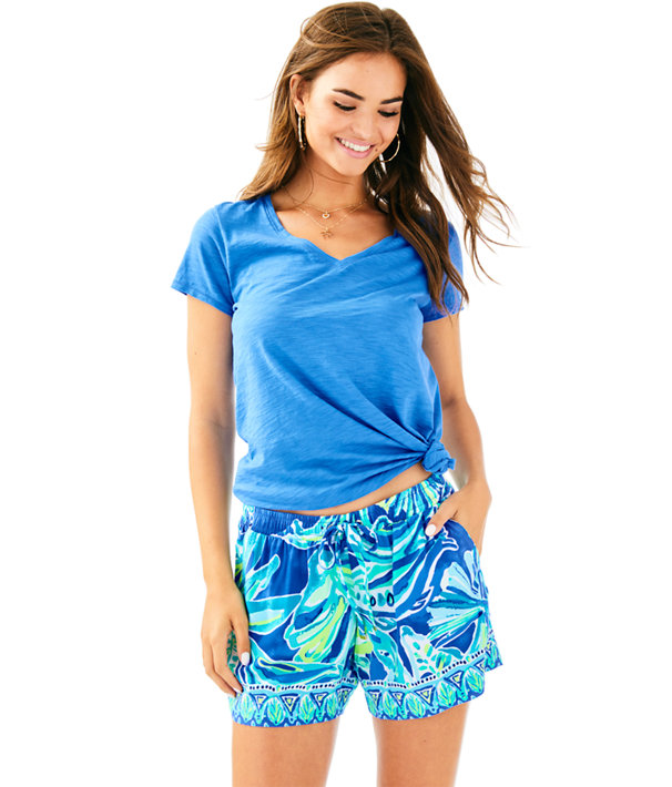 "5"" Katia Short, Beckon Blue Palm Passage Engineered Short, large"