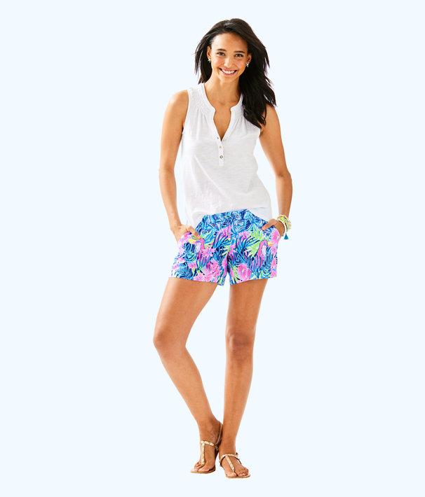 """5"""" Katia Short, Bennet Blue Lets Mango Engineered Short, large"""