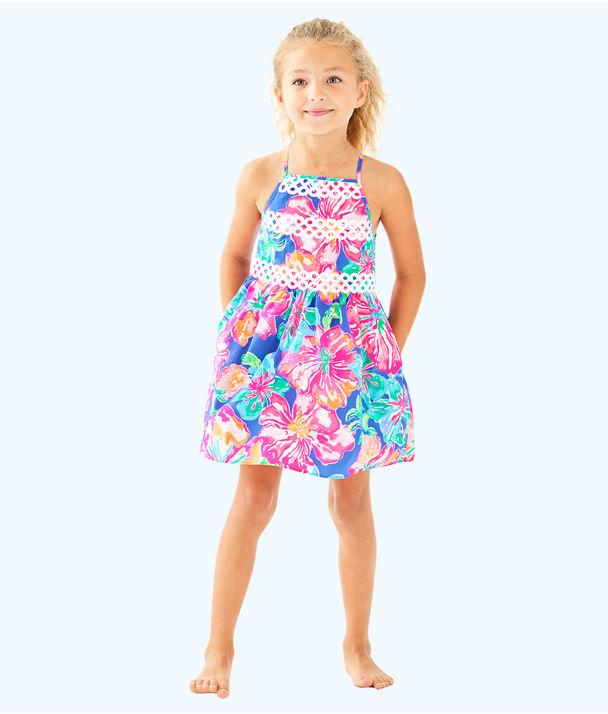 Elize Dress, Beckon Blue Jungle Utopia Small, large
