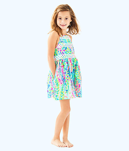 Elize Dress, Multi Catch The Wave, large