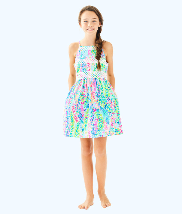 Elize Dress, Multi Catch The Wave, large