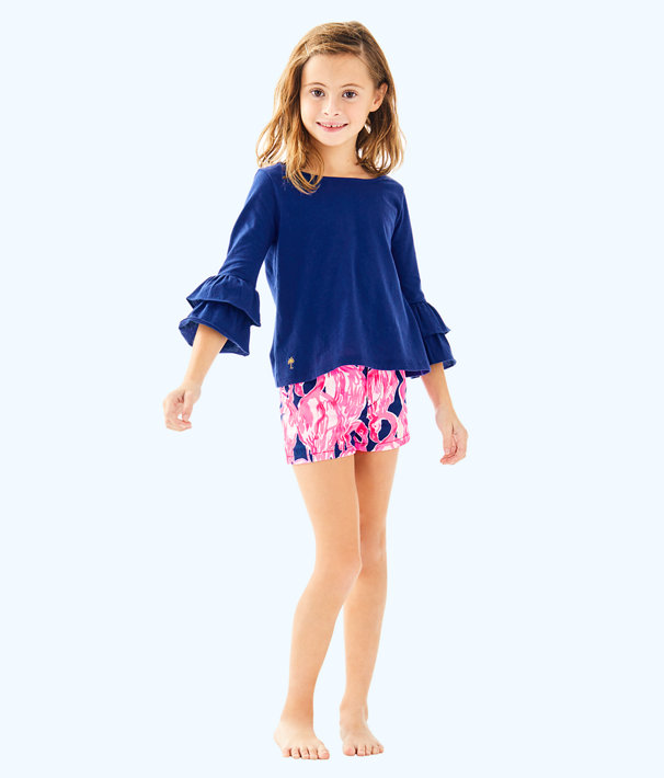 Girls Mini Callahan Short, High Tide Navy Via Amor, large