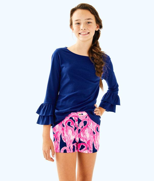 Girls Mini Callahan Short, High Tide Navy Via Amor, large