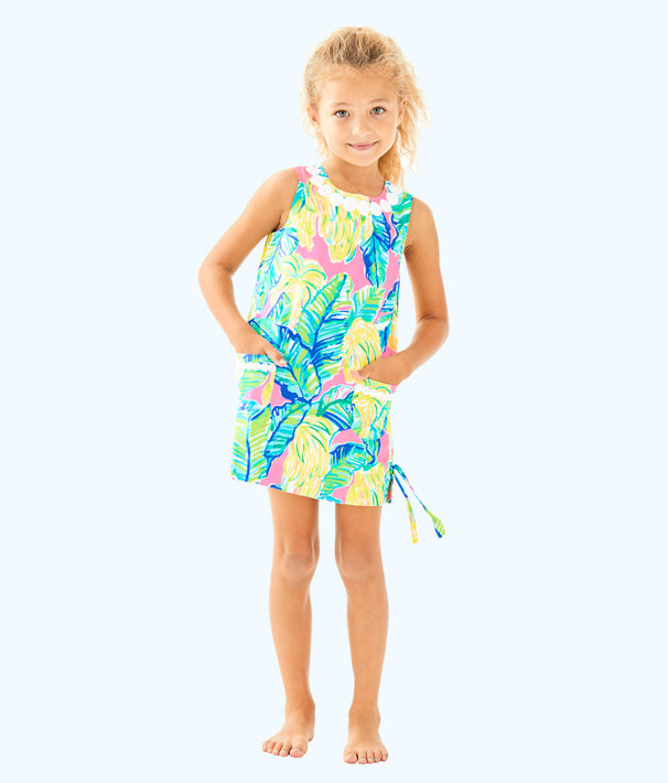 Girls Little Lilly Classic Shift, Pink Sunset Local Flavor, large