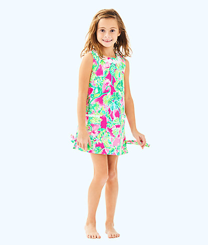 Girls Little Lilly Classic Shift, Raz Berry Catty Shack, large