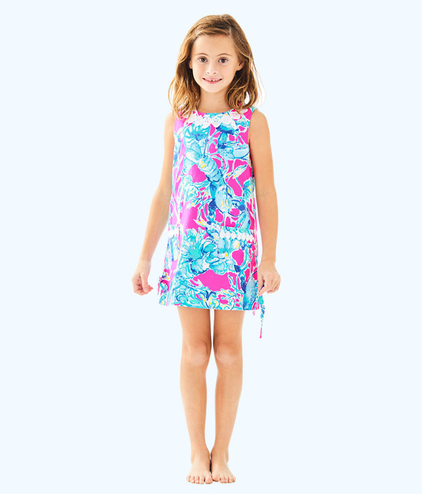 Girls Little Lilly Classic Shift, Raz Berry Lobsters In Love, large