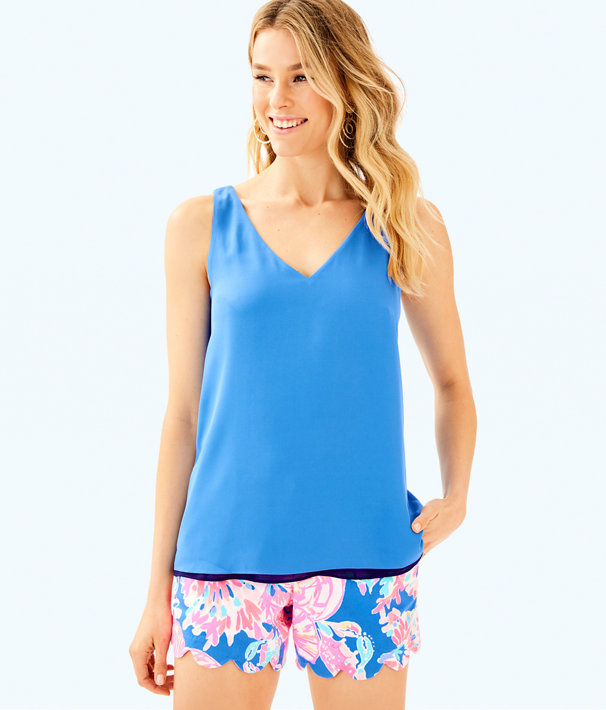 Florin Reversible Sleeveless V-Neck Tank, Bennet Blue, large