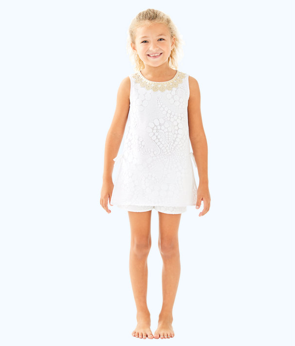 Girls Mini Donna Set, Resort White Mocean Lace, large