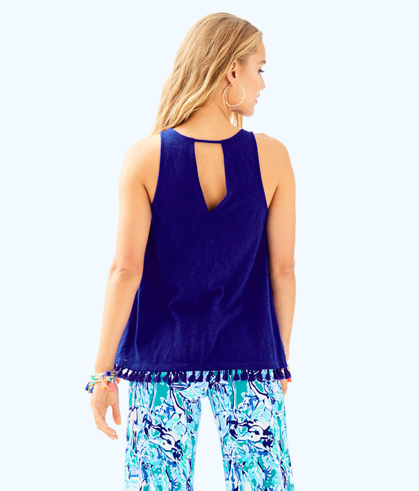 Rexie Top, Twilight Blue, large