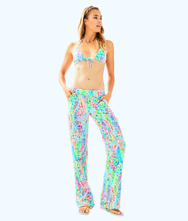 """33"""" Florita Linen Pant, Multi Catch The Wave, large"""
