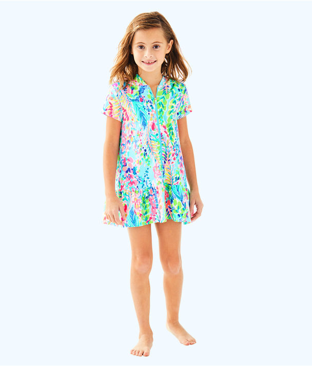 Girls Cooke Coverup, Multi Catch The Wave, large
