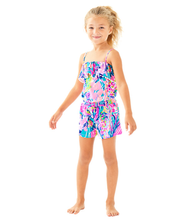 Girls Leonie Romper, , large