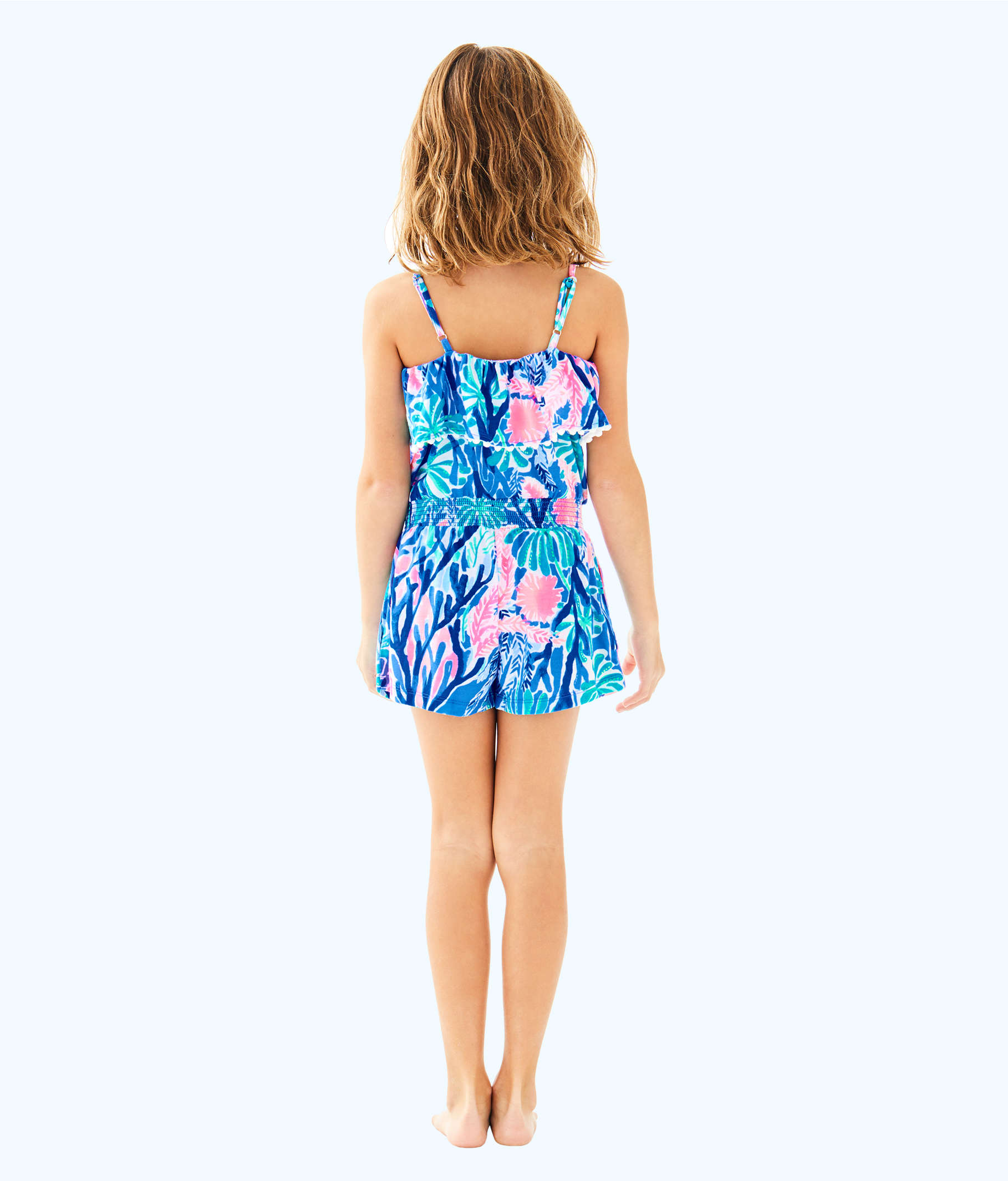 133e682dd72aff ... Girls Leonie Romper, Multi Jet Stream, large ...