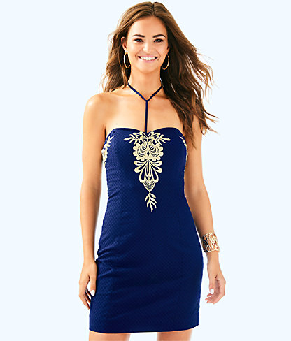 Demi Convertible Dress, True Navy, large